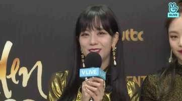 Blackpink Jisoo backstage Golden Disc Awards 2018
