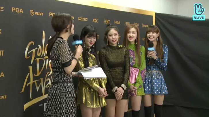 Blackpink Golden Disc Awards 2018