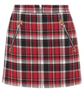 Blackpink Jisoo fashion Plaid mini skirt