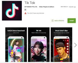 Tik Tok App Google Play