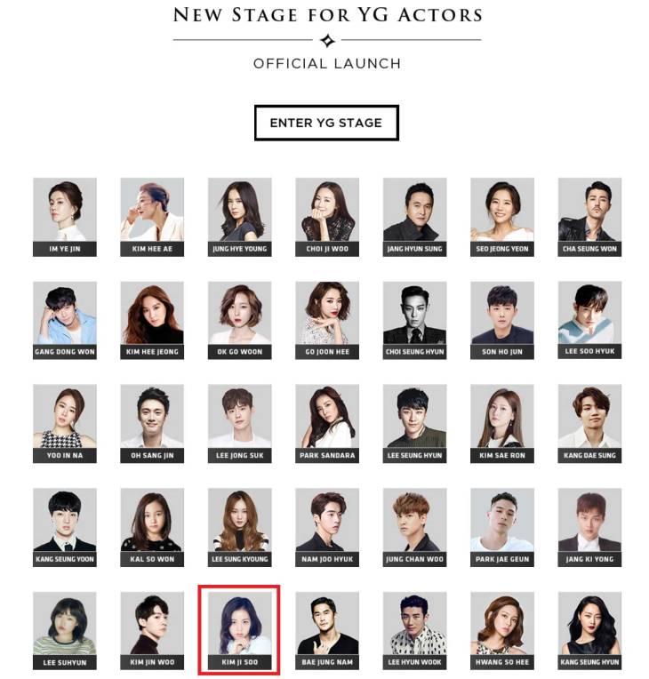 Blackpink Jisoo YG Entertainment Actor