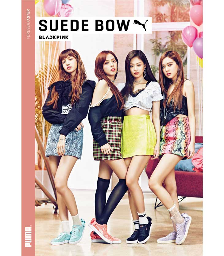 Blackpink Puma Suede Bow 2018 Commercial Photoshoot